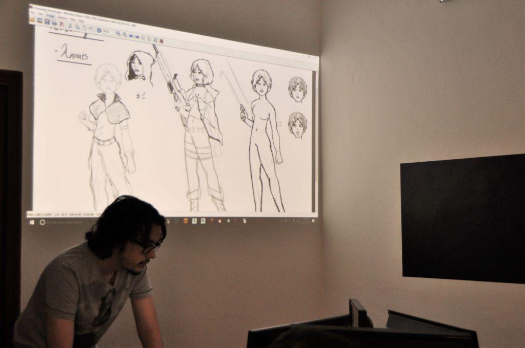 El personaje principal del videojuego de Jose en trazos